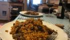 venison paella plated